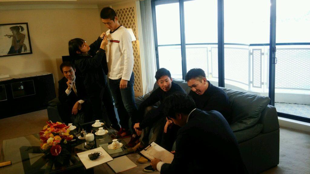 当ホテルにおいてCarpの若鯉・新人選手の皆様のテレビ取材が行われました